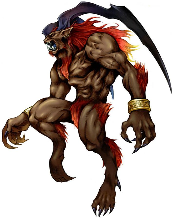 Week 8 - Final Fantasy VIII - Concept Art Mon - Ifrit