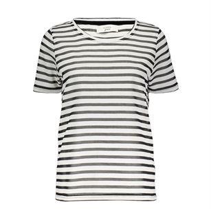 Numph Tee stripe, White, medium
