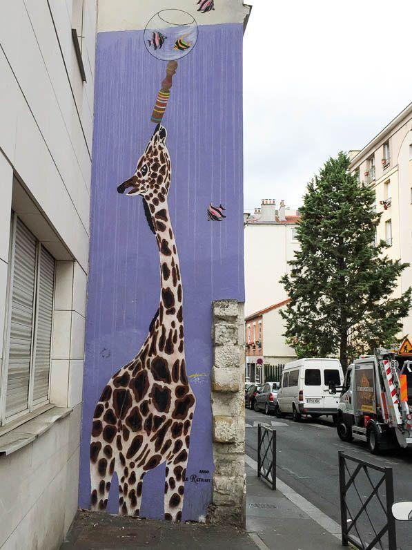 Street art dans la rue du Retrait (Paris 20e) Fred le Chevalier Jérôme Mesnager http://www.pariscotejardin.fr/2015/07/street-art-dans-la-rue-du-retrait-paris-20e/