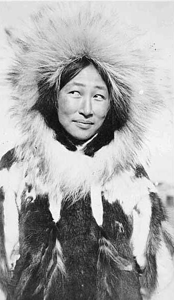 Eskimo woman in fur parka with fur trim by UW Digital Collections
