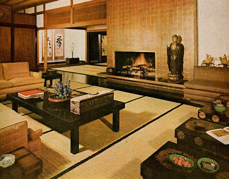 Japanese-Inspired Living Room | 1960s Furniture Styles Pictures - Interior Design from the 1960s - House Beautiful