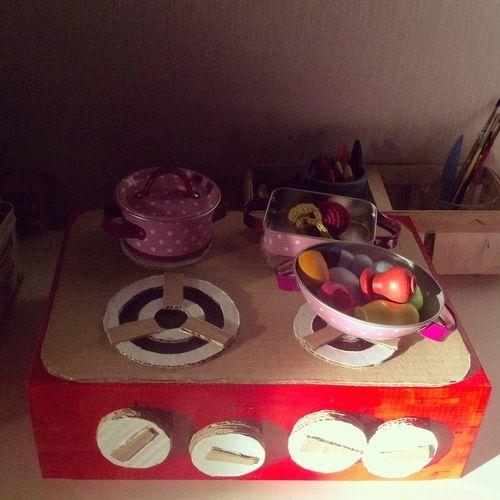 детская плита сделай с мамой #kids crafts #ka-var-dak #kavardak #kitchen #cooker #play with kids #cook with kids #cooker for kids