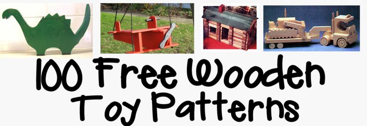 100 free wooden toy patterns.