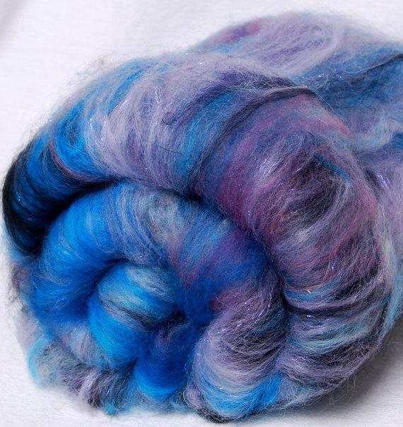 Hand carded batts  CASHMERE Merino Silk Linen by YummyYarnsUK