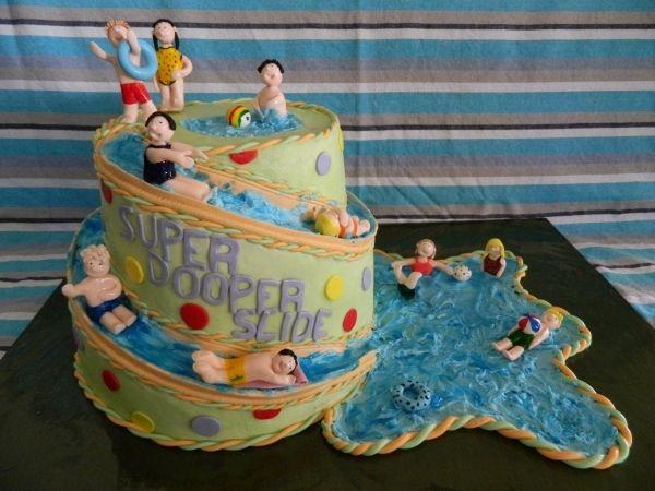 Water Birthday Cake