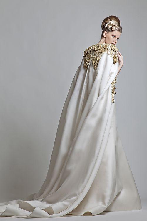 Vestido de noiva de deusa grega de Krikor Jabotian