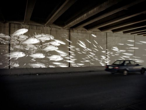 v-eck: A reflective paint mural to activate the I-95 underpass...