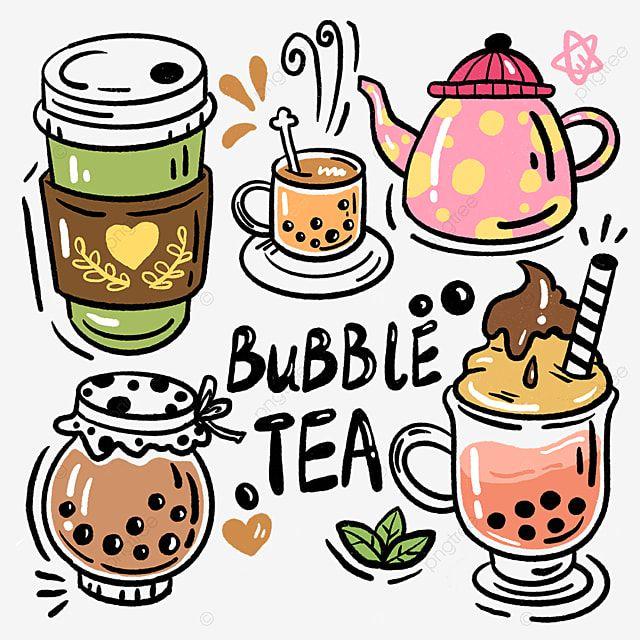 Pearl Milk Tea Ice Cream Cup Hand Drawn Milk Tea Pot Pearl Png Transparent Clipart Image And Psd File For Free Download Tea Illustration Tea Logo Bubble Milk Tea