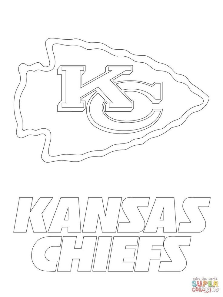 kc chiefs coloring pages to print  kansas city chiefs