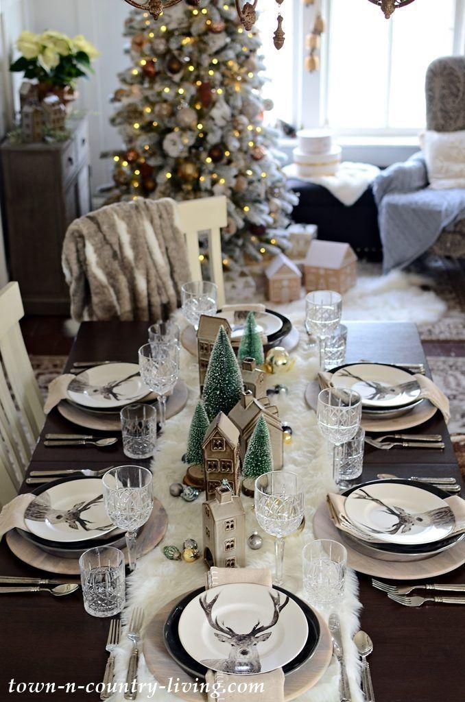 Christmas Table Setting Modern Country Style Christmas