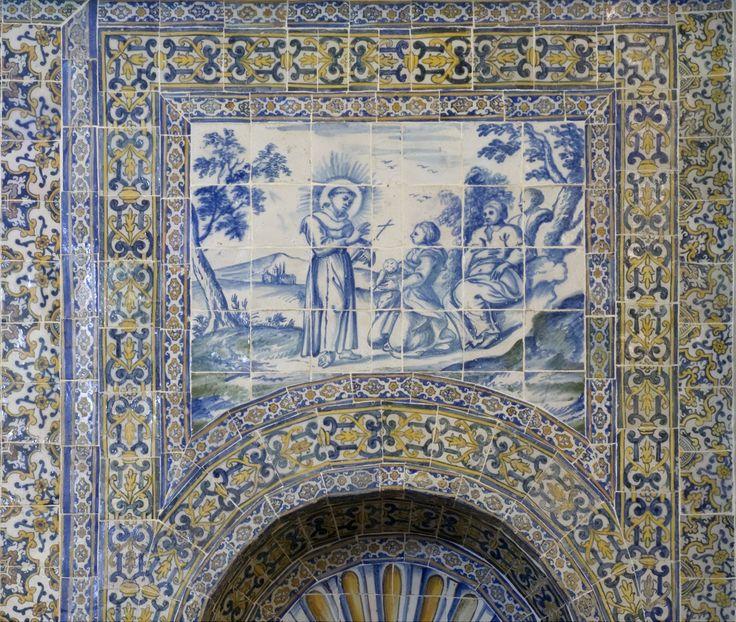 Carcavelos | Igreja de / Church of Nossa Senhora dos Remédios | Séc. XVII #Azulejo #AzulejoDoMês #AzulejoOfTheMonth #Santos #Saints