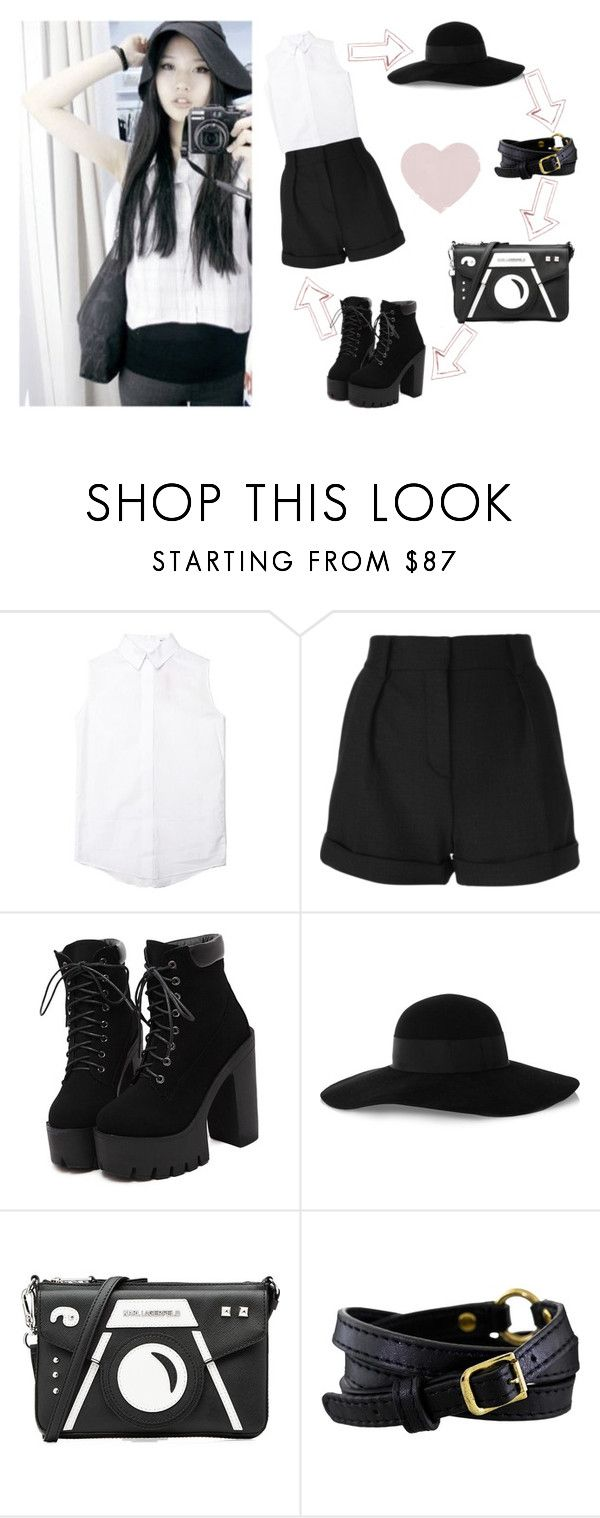 """""""Ulzzang #40"""" by bacon-coreano ❤ liked on Polyvore featuring The Fashion Club, IRO, Eugenia Kim, Karl Lagerfeld, Pacha, korean, japanese and Ulzzang"""