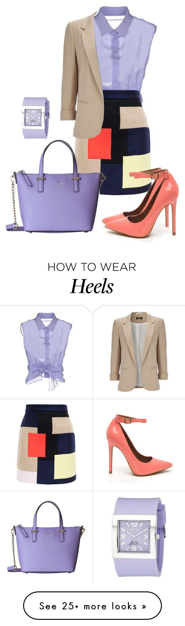 """Без названия #117"" by velikorodnayam on Polyvore featuring Alberta Ferretti, MSGM, Wallis, Kate Spade and Invicta"