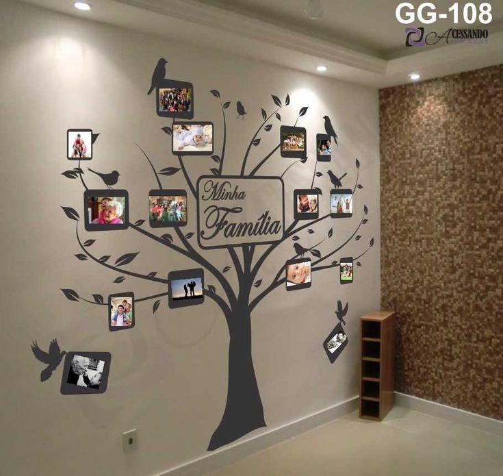 adesivo - lançamento - arvores - porta retrato - sua familia
