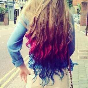 Marvelous Pink Blue Posts And Curls On Pinterest Short Hairstyles Gunalazisus
