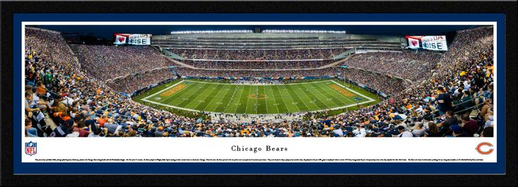 Chicago Bears Panoramic Picture - Soldier Field Stadium Panorama - Select Frame $149.95