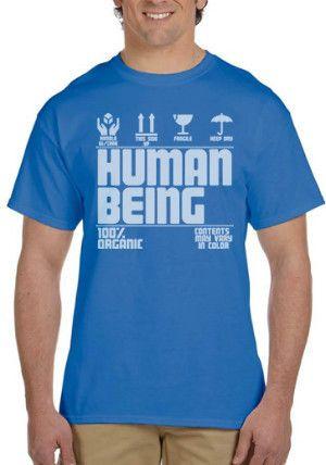 Human Being 100% Organic t-shirt – The Silk Screen Machine
