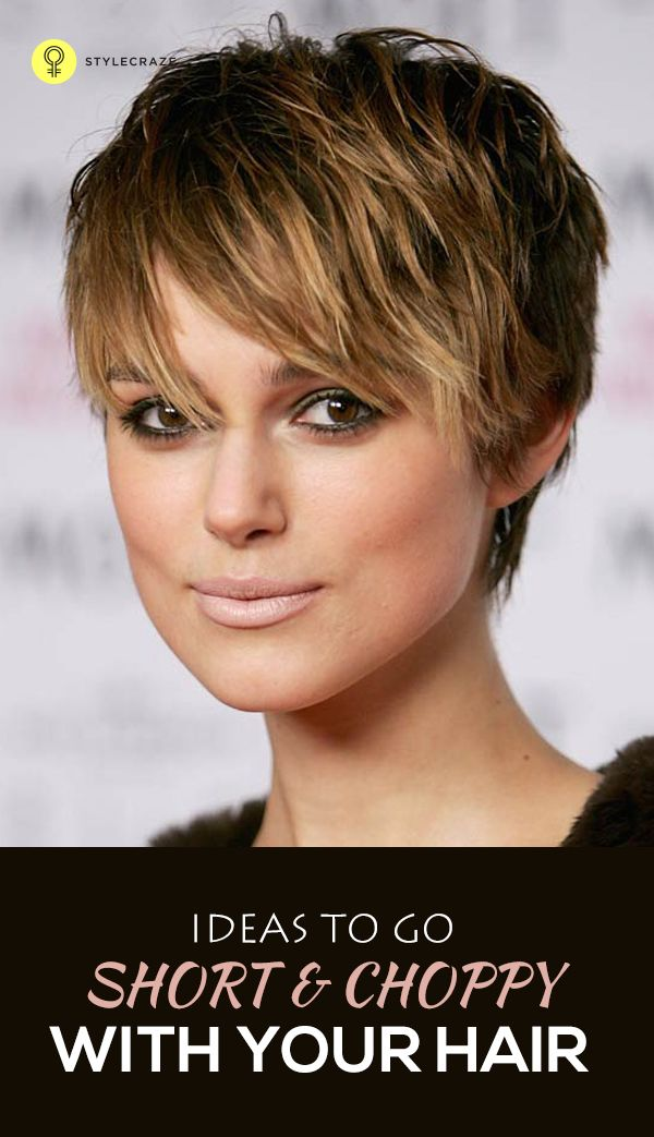 Messy, glam chic and flattering for most face-shapes, the choppy look is back! From actress Dianna ...
