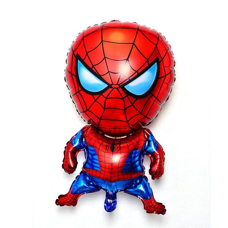 三次元スパイダーマンアルミ膜バルーンかわいい漫画フィルムバルーン特別子供の誕生日パーティー
