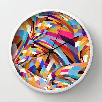 Shock Wall Clock by Danny Ivan - $30.00