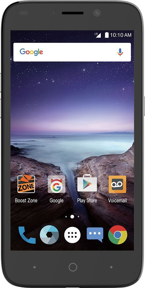 Boost Mobile - ZTE Prestige 2 4G LTE with 16GB Memory Prepaid Cell Phone - Black