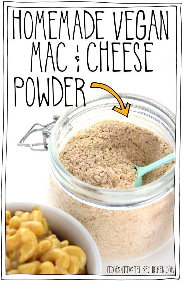 Homemade Vegan Mac Cheese Powder Recipe Vegan Mac Cheese Vegan Cheese Recipes Vegan Recipes