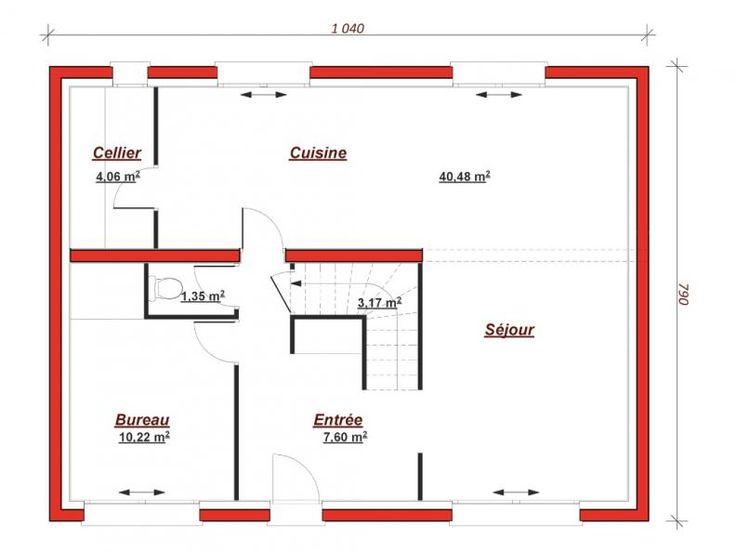 319 best Maison à étage images on Pinterest Floor plans, Homes and