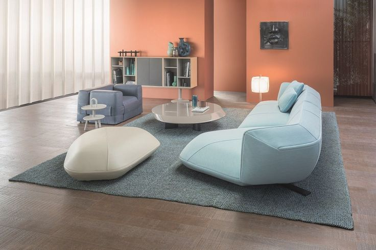 Contemporary style meets comfort in a new modular sofa system, Floe Insel designed by Patricia Urquiola for leading Italian designer furniture brand, Cassina . Featuring a multi-sided form with ...
