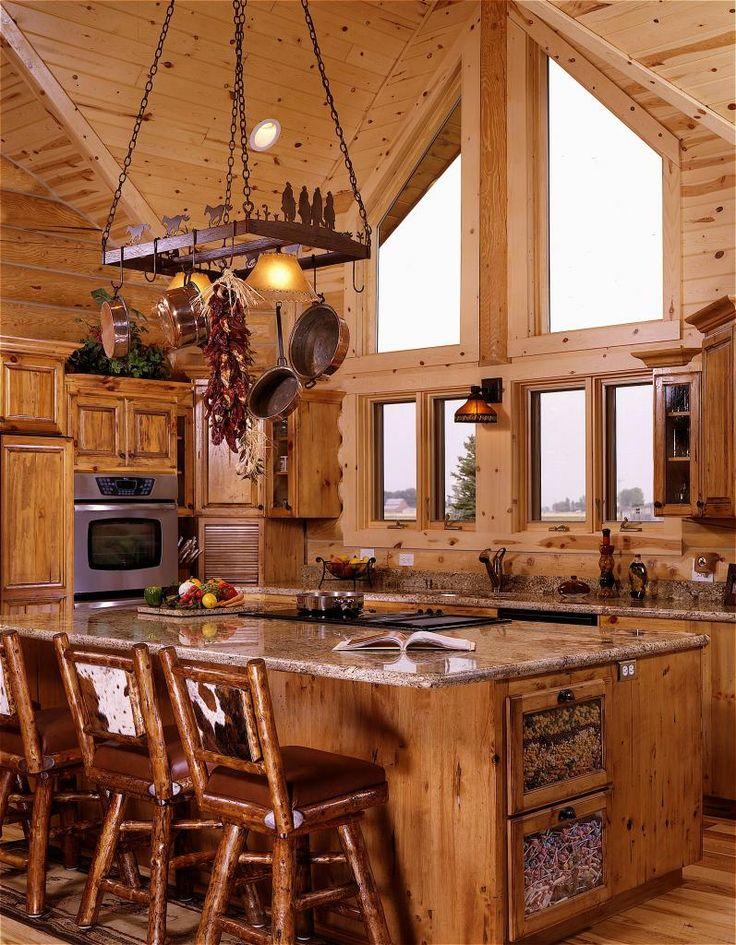 Best 25 Log Home Kitchens Ideas On Pinterest Log Cabin Kitchens Log Home
