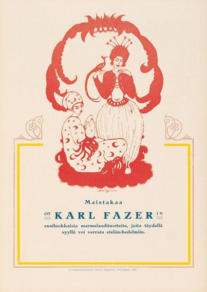 Fazer-mainos, 1920-luvulta