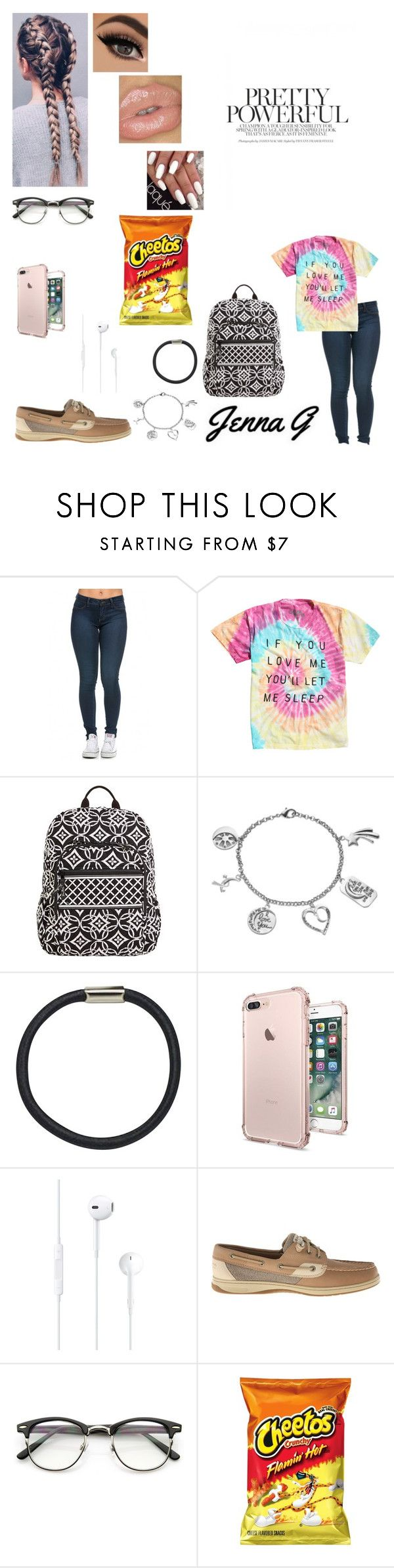 """""""36th day of school/ Volleyball game...♡"""" by iamjennagarcia on Polyvore featuring Vera Bradley, Love This Life, Hershesons, Sperry and ZeroUV"""