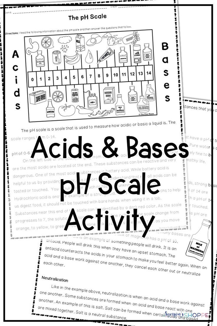 Acids Bases And The Ph Scale Reading Activity Nonfiction Texts