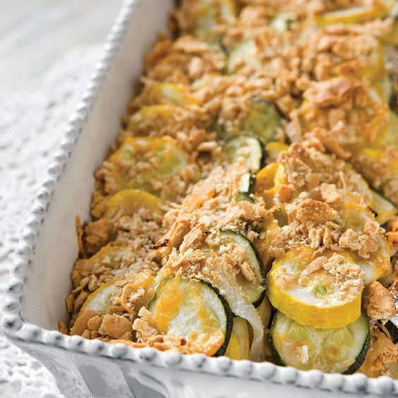 This squash casserole is so easy to put together.