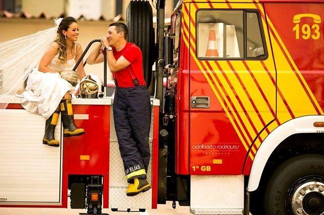 Casamento de bombeiro