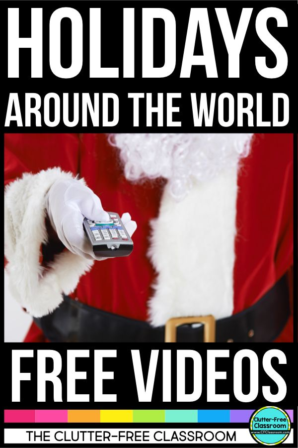 Holidays Around the World videos are a great way to experience the traditions of other countries or cultures. These short free videos feature Pere Noel, Old Befana and other telling stories and explaining Kwanzaa, Hanukkah, and the winter celebrations in France, Canada, England, Germany, and Italy. Watching these video, reading books & passages, making maps, suitcases, passports, crafts, scrapbooks, & postcards is perfect for first, second, third, fourth, & fifth grade & homeschool lesson…