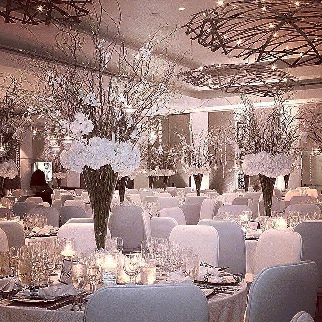 Winter White Wedding Decor