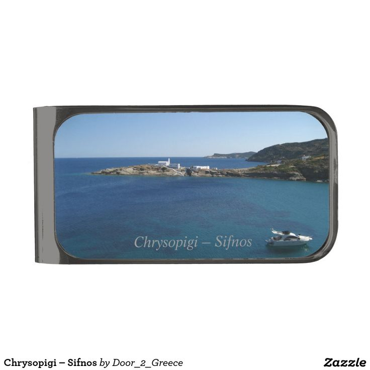 Chrysopigi – Sifnos Gunmetal Finish Money Clip