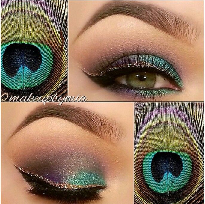 LOVE peacock feathers. And this is adorable.
