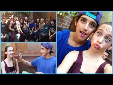 5 Minute Makeup Challenge w/ the JANOSKIANS! @Gisel Rodriguez a 13yr old did Beau's makeup..! grrr