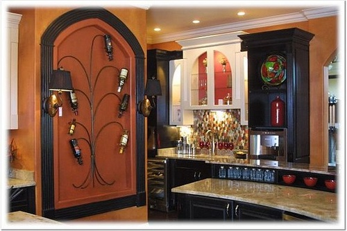 Mediterranean Style Decorating: Creative Ideas for Displaying Wall Wine Racks