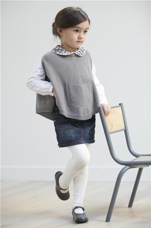 Poncho Cachemire Poupette gris, Les pulls et cardigans, Mode Filles, Nos sélections, Mode - Nomad in Paris
