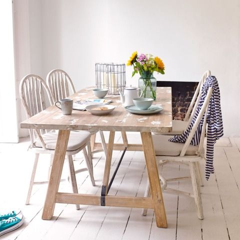 Strappy - It takes two skilled craftsmen a long time and even more patience to get exactly the right lived-in finish for this reclaimed timber table | Loaf