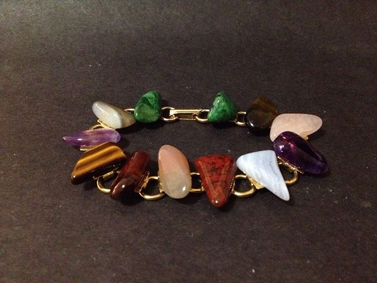 Pre Owned Semi Precious Stones Bracelet (amethyst, rose quartz, tiger eye etc)