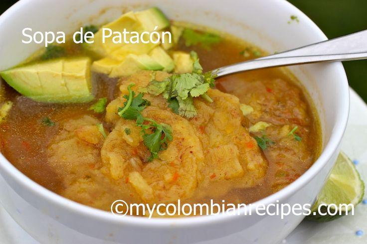Sopa de Patacón pisao.