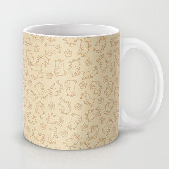 Ditsy Goat Mug