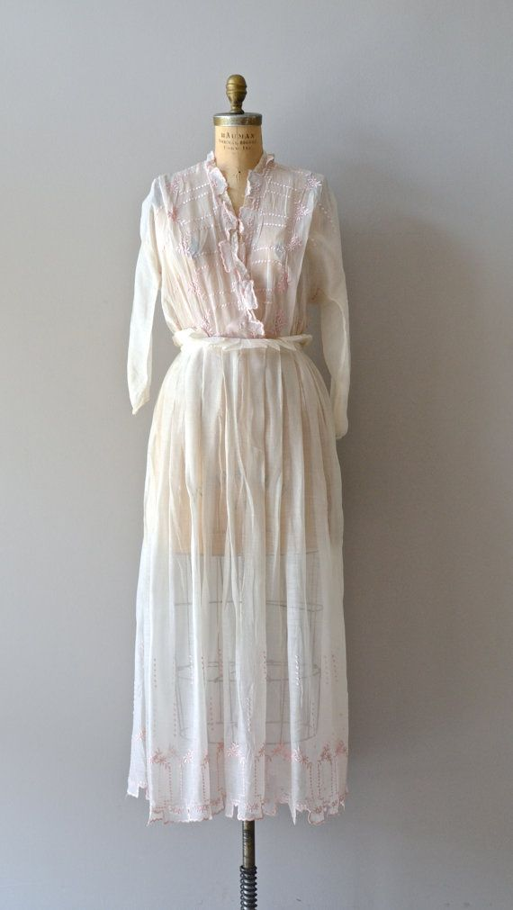 Letitia dress / sheer white cotton edwardian dress / by DearGolden, $355.00