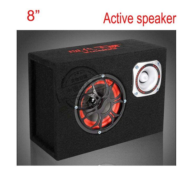 New arrival 8 inch 12v 220v car audio acoustic hifi portable active speakers KTV boom box