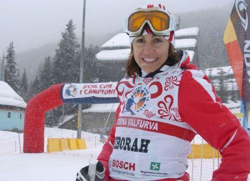 Deborah Compagnoni di Santa Cateriva Valfurva, in Alta Valtellina. Una campionessa olimpica di sci ma anche campionessa della solidarietà