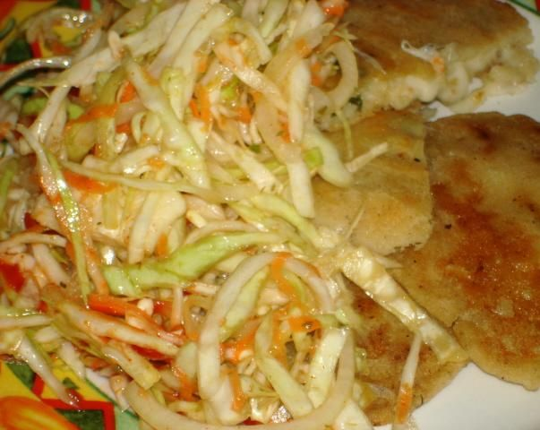 http://www.food.com/recipe/curtido-de-repollo-el-salvadorean-cabbage-salad-207798   Curtido De Repollo- Great condiment for Pupusas