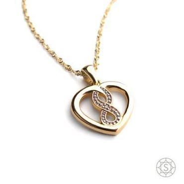 Ladies, how would you like to find this exquisite 9ct heart infinity pendant in your Christmas Stocking? All you need to do is drop huge hints and send him off to Sterns in the Mall!